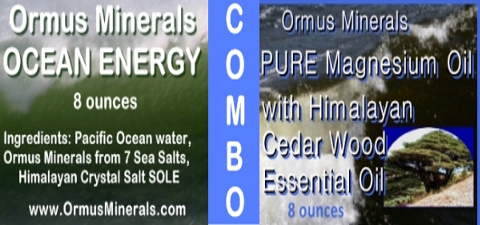 Ormus Minerals Ocean Energy with PURE Magnesium Oil with Himalayan Cedar Wood Oil