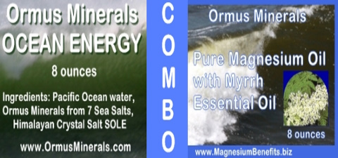 Ormus Minerals Ocean Energy with PURE Magnesium Oil with Myrrh