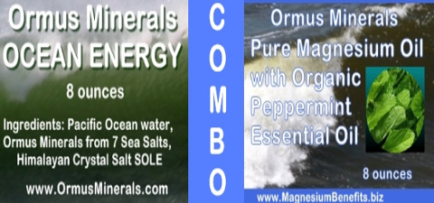 Ormus Minerals Ocean Energy and PURE Magnesium Oil with Organic Peppermint